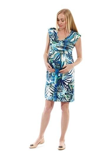 Motherway Maternity Elbise Renkli